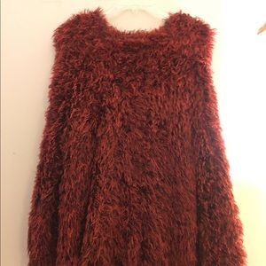 Urban Outfitters red furry sweater